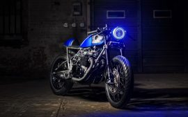 Cafe Racer Lightweight Fast Motorbike Images Downloadable
