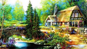 HD Cottage Background