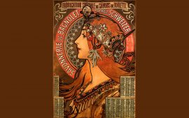 Free Alphonse Mucha Desktop Wallpaper