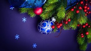 Blue Christmas Wallpaper HD