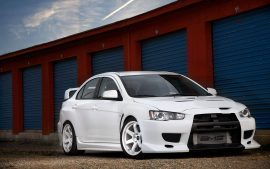 Evo Mitsubishi Sports Car Wallpaper HD