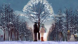Free Download Winter Love Background