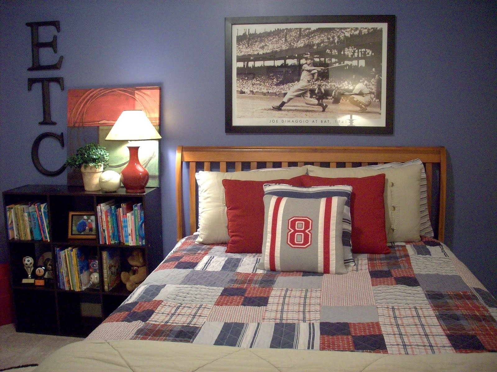 Kids Room Boys Bedroom Decorating Ideas Sport Baseball Theme Regarding Sports
