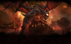 Deathwing Dragon WoW Red and Black Screen Images as Superb Wallpapers