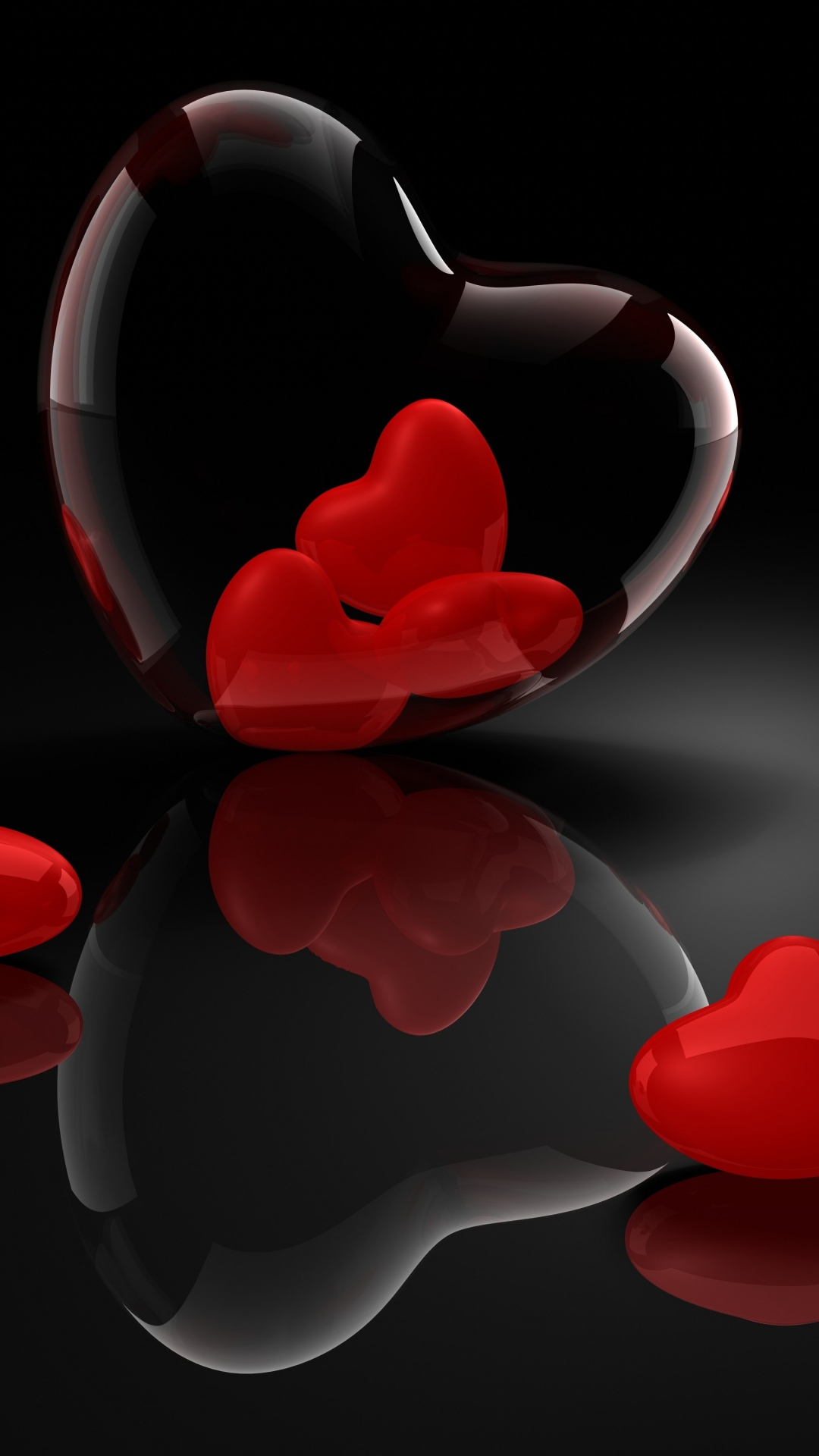 wallpaper.wiki-heart-glass-3d-reflection-iphone-6-wallpaper-pic