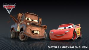 Disney Cars Film Cheerful Backgrounds Bright and Happy Here