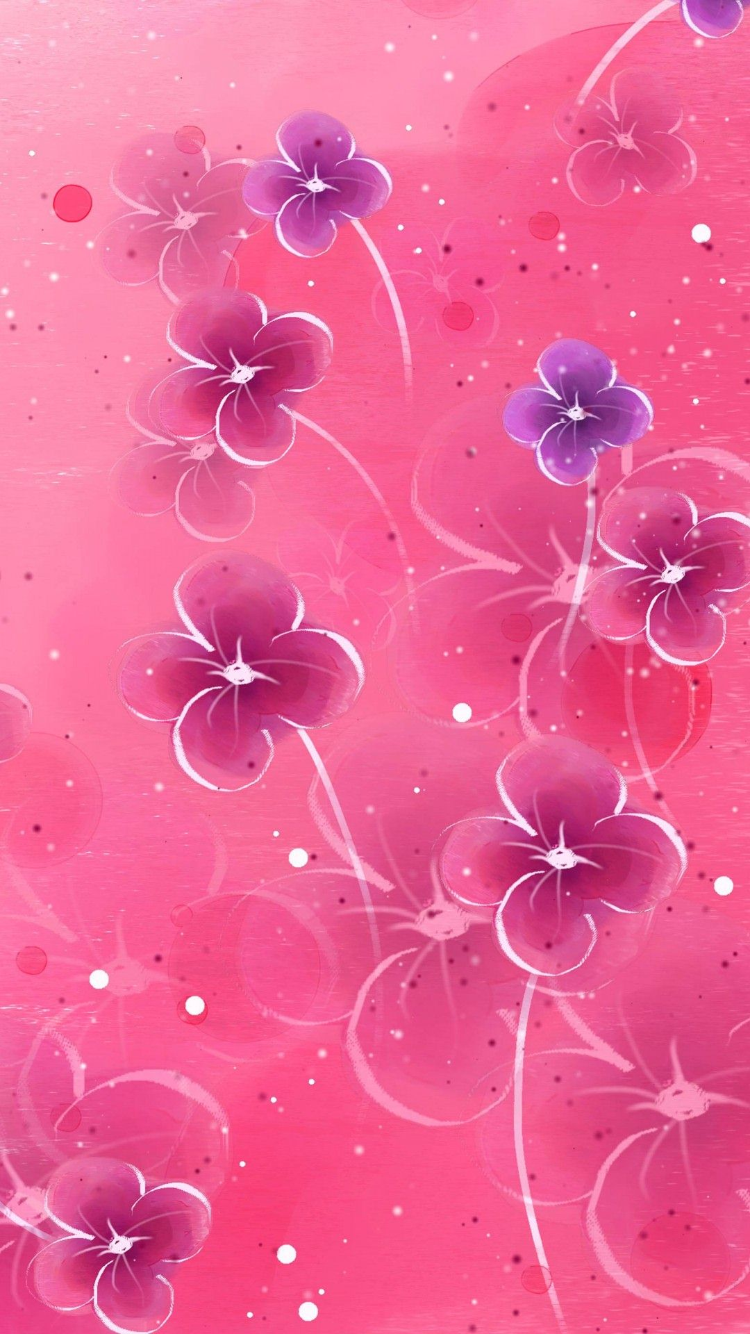 Wallpaper pink flower iphone wallpaper pic wpd006671 download mightylinksfo