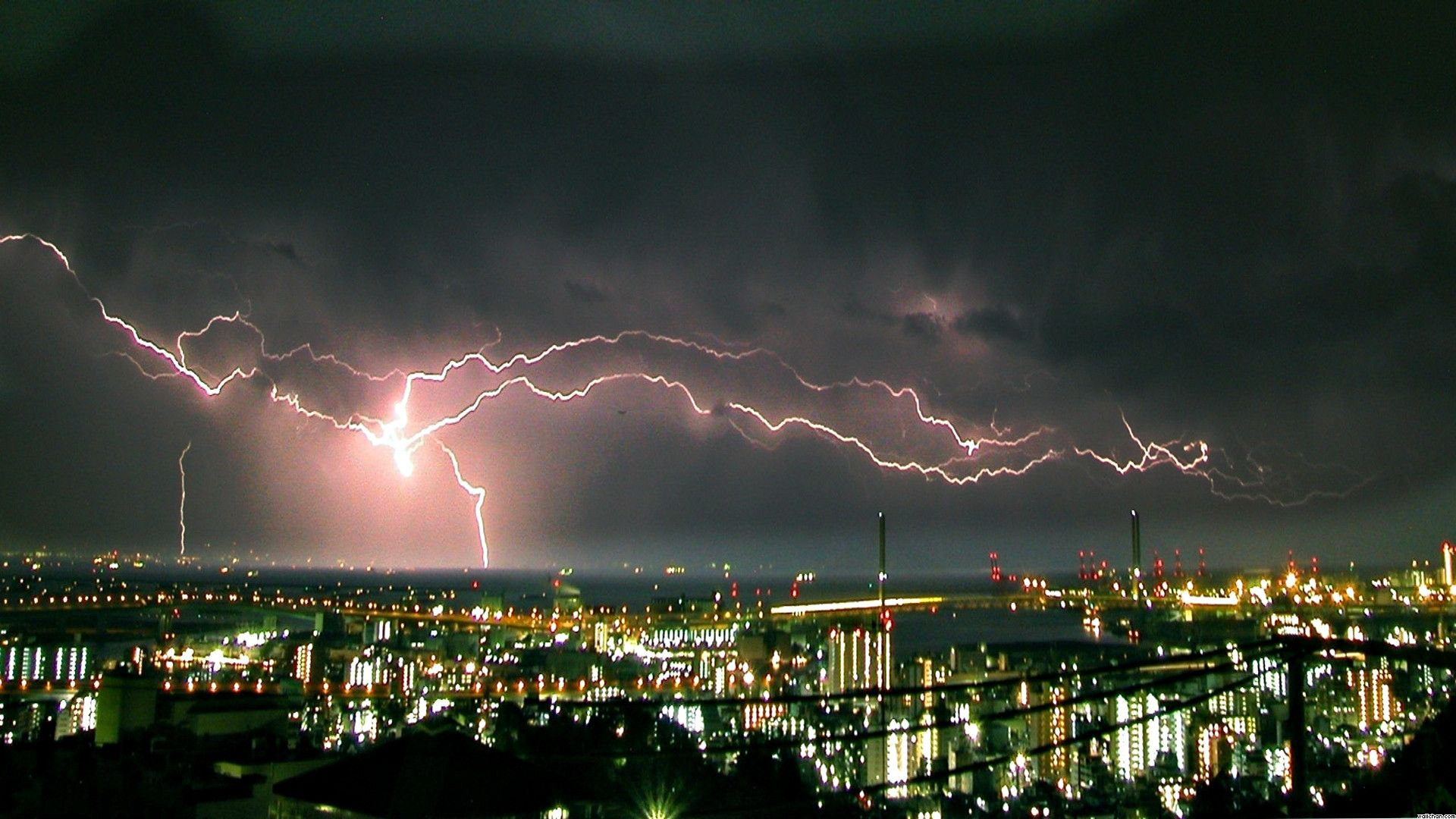 Wallpaperwiki Real Lightning Storm Background PIC WPD005416