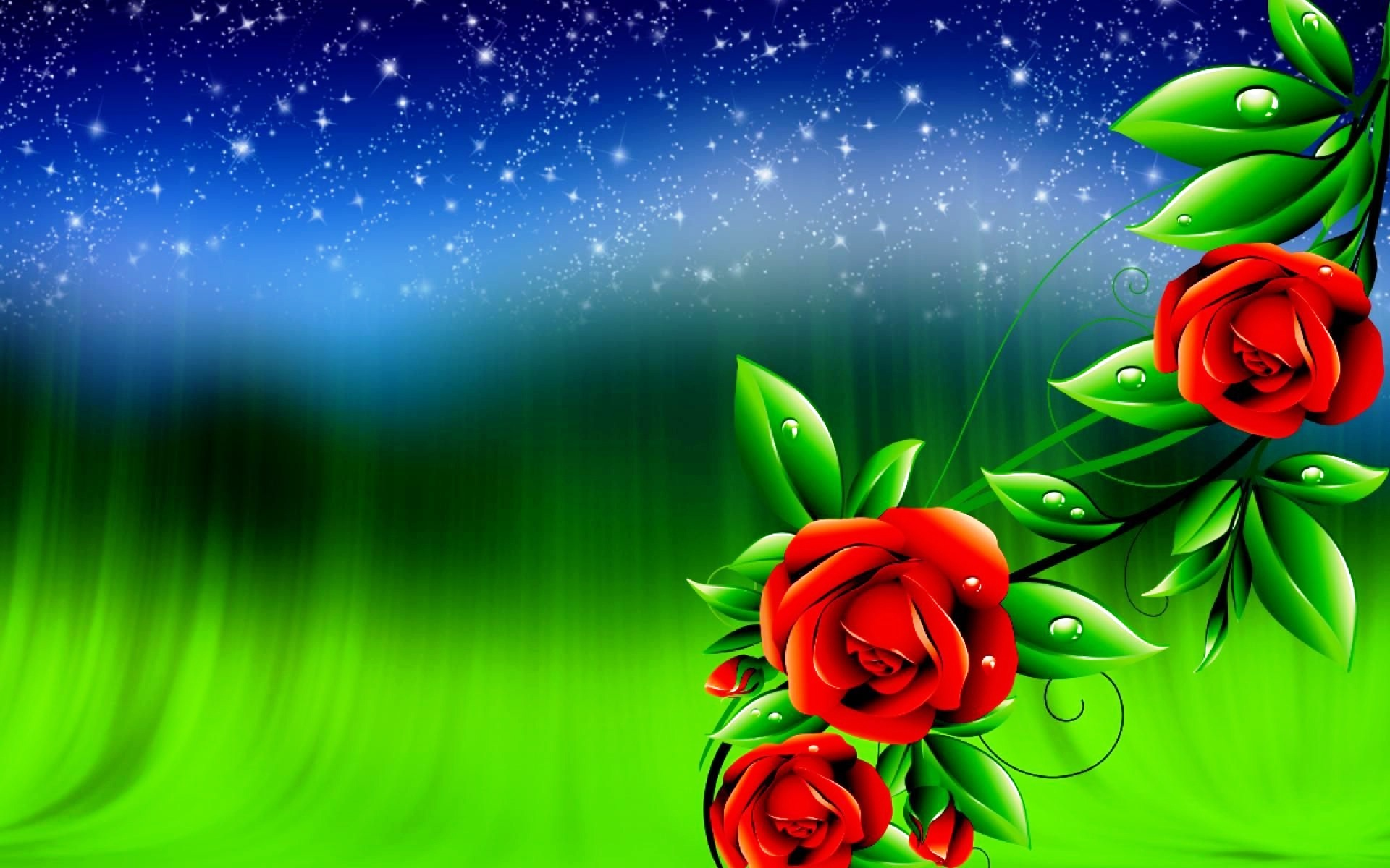 wallpaper.wiki-rose-flowers-digital-design-3d-wallpapers-pic