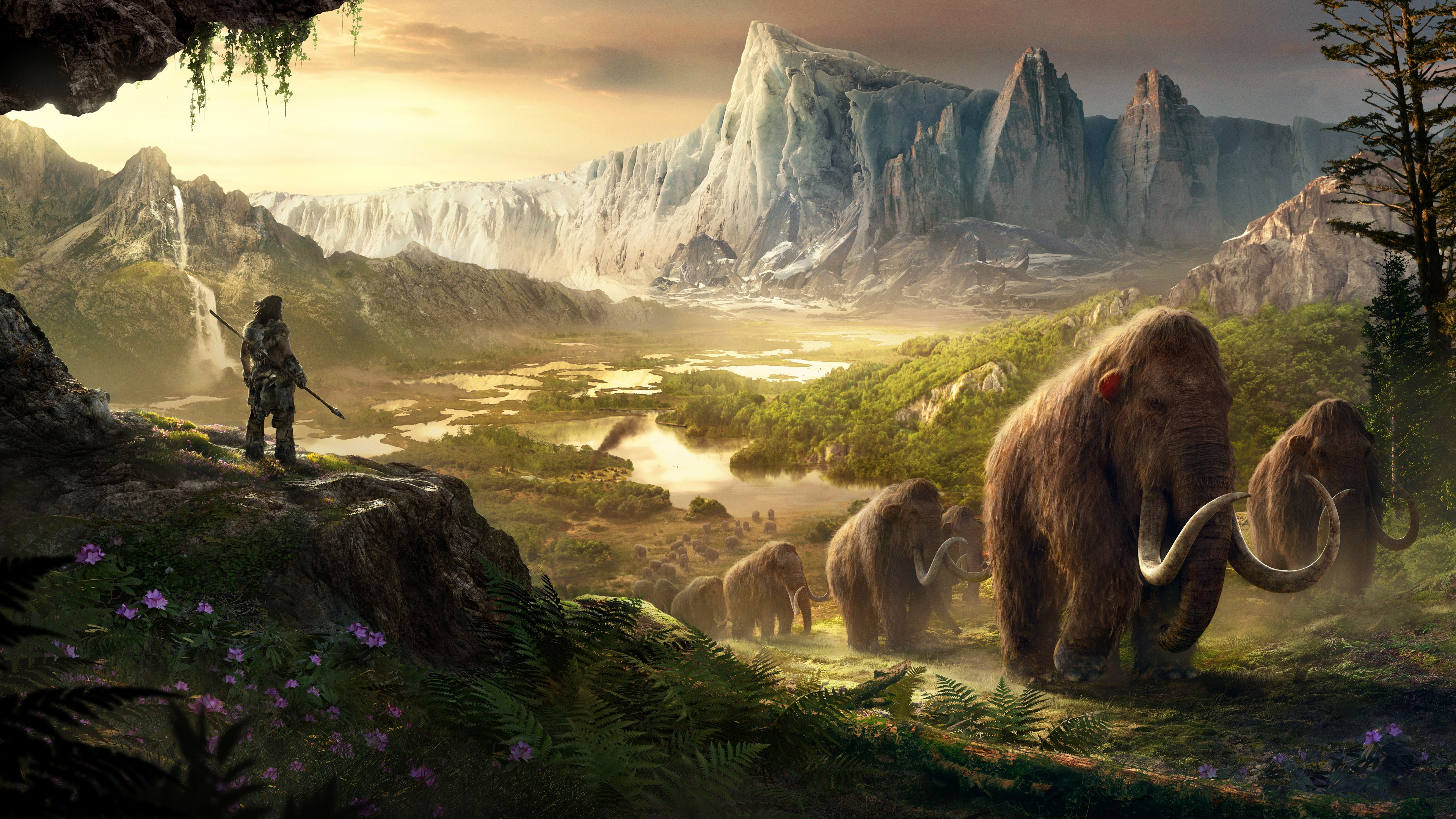 wallpaper.wiki-takkar-mammoths-in-far-cry-primal-4k-resolution