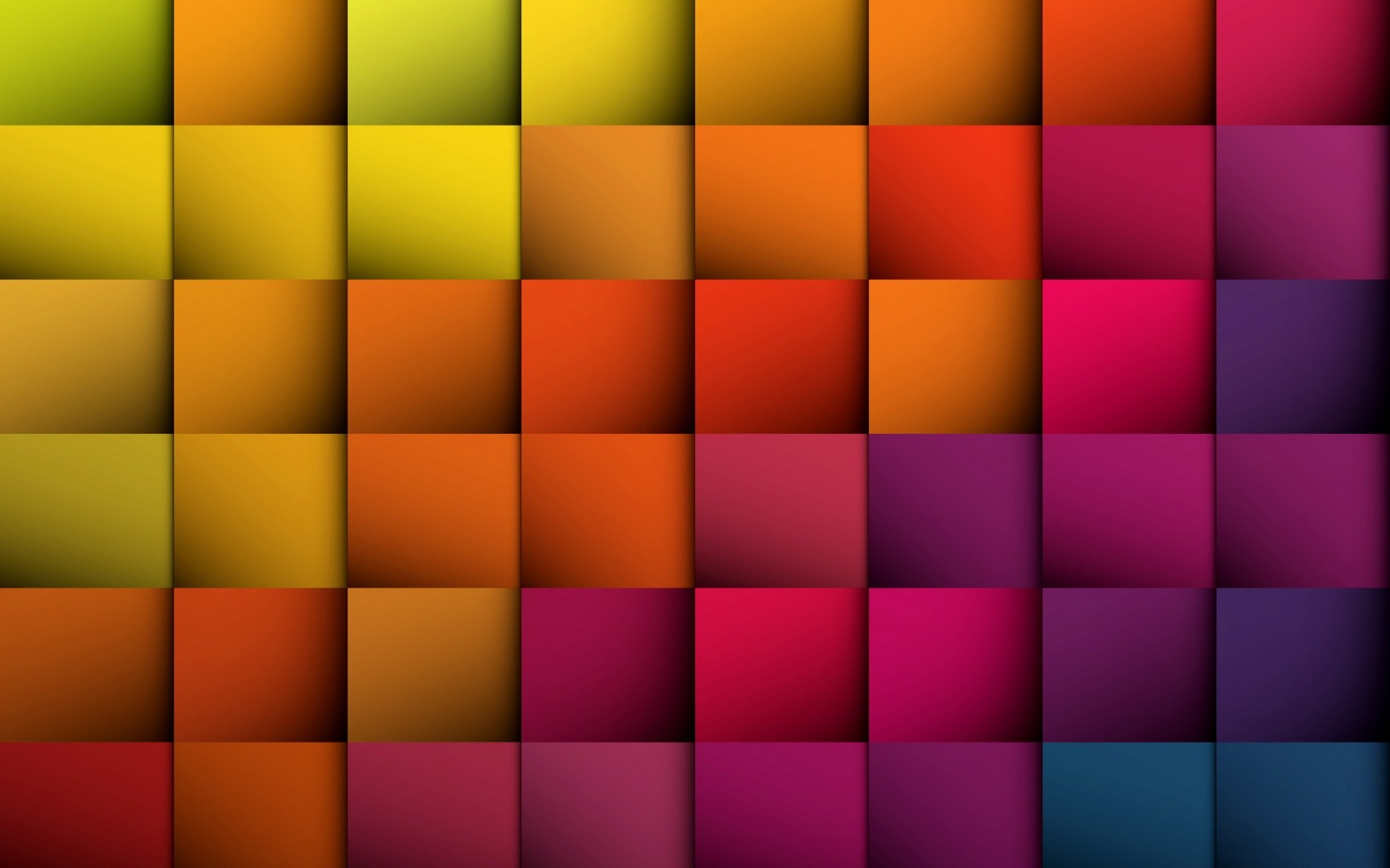 3D Color Checks Walls HD Wallpapers