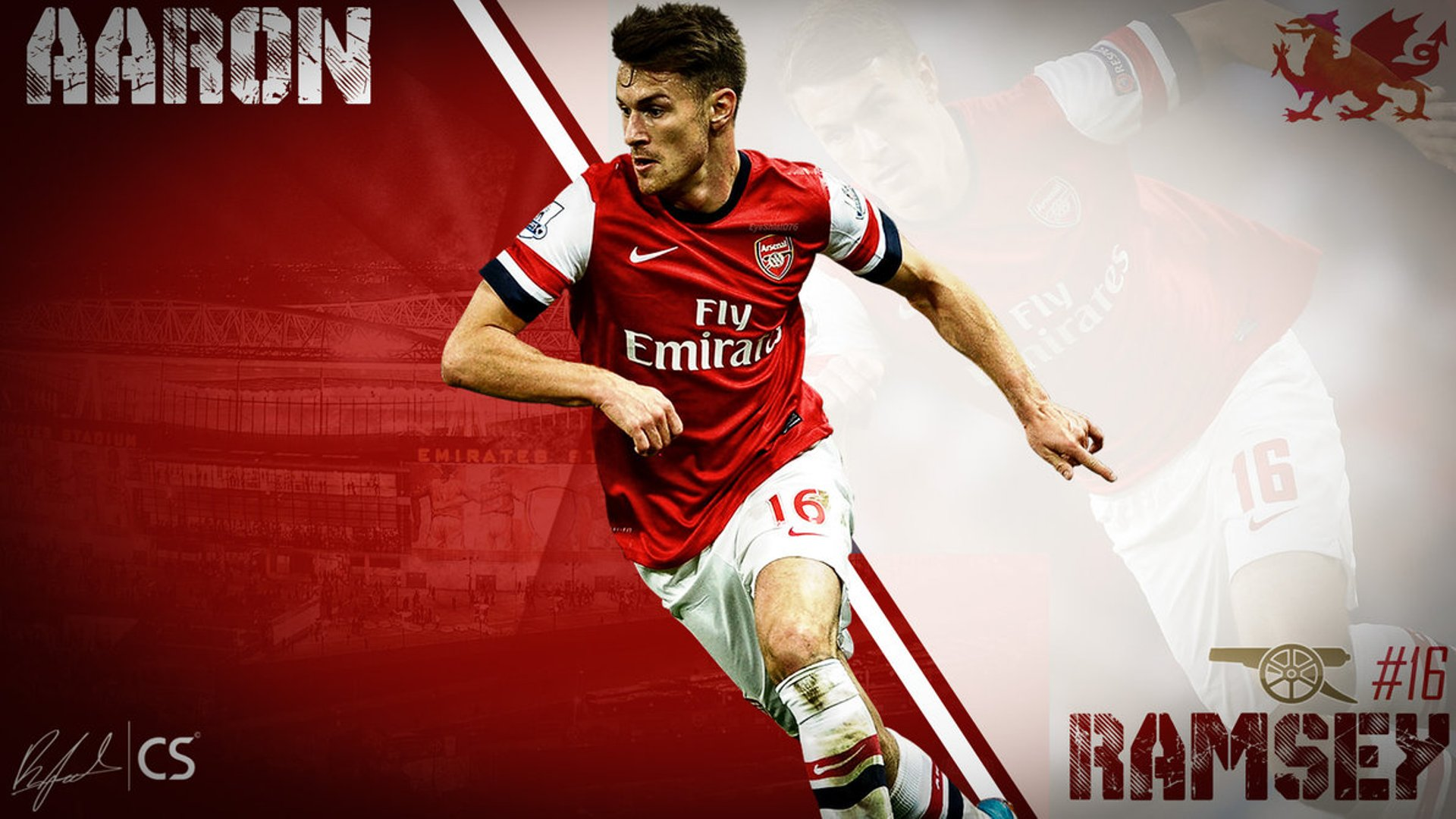 Aaron Ramsey Arsenal wallpaper HD 2016 - wallpaper.wiki