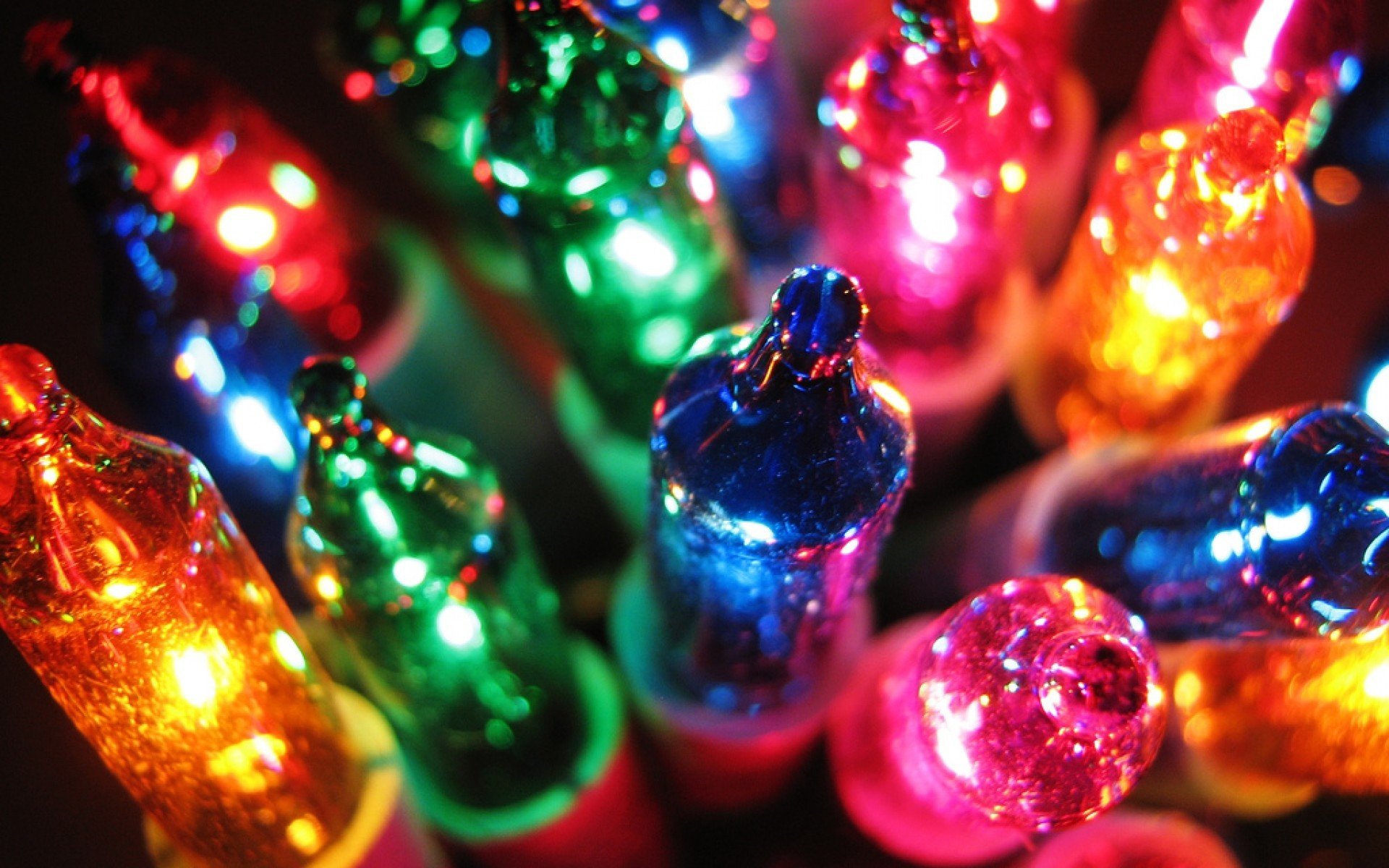 Colorful Christmas Lights Desktop Background Hd Wallppaer