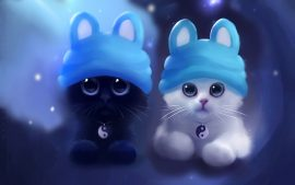 Double Cat Wallpaper