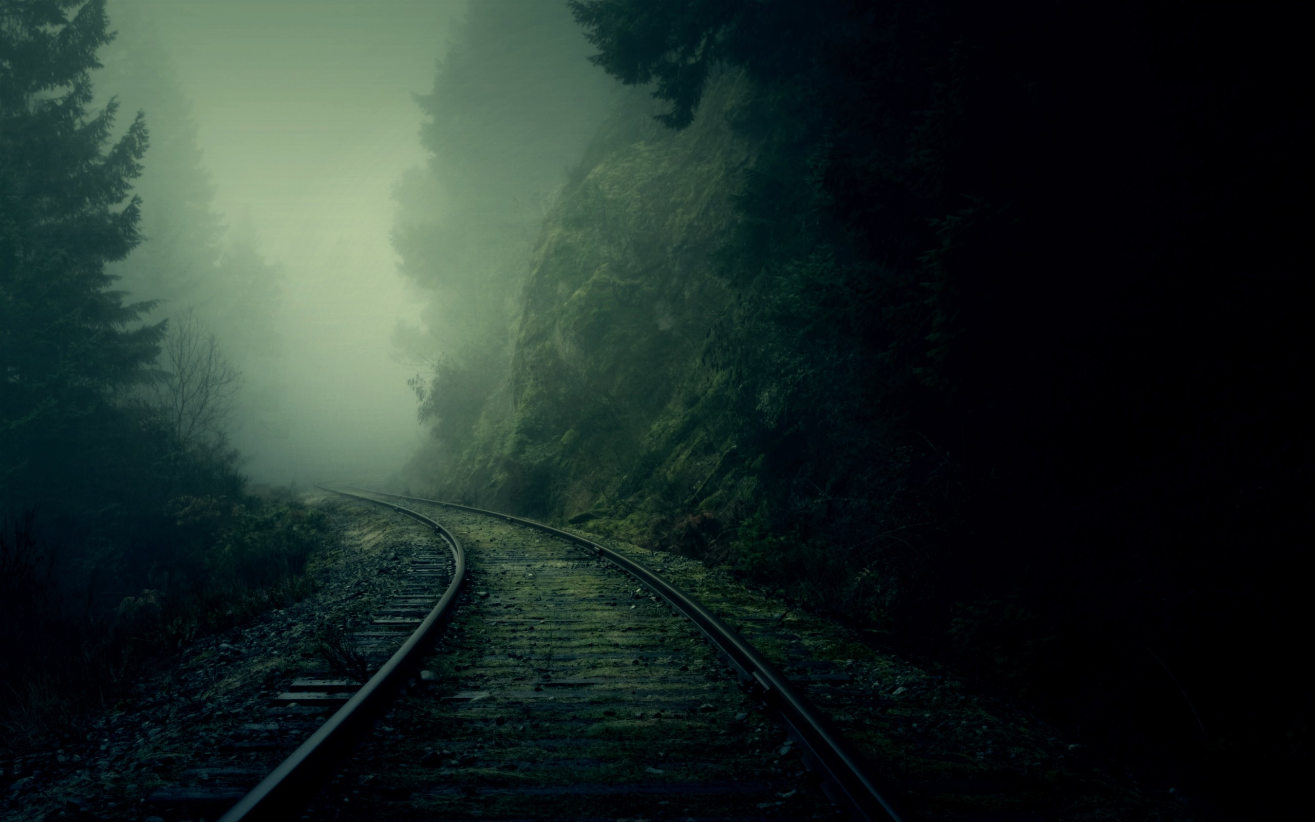 Dark Railroad Landscape Wallpaper Hd Wallpaperwiki
