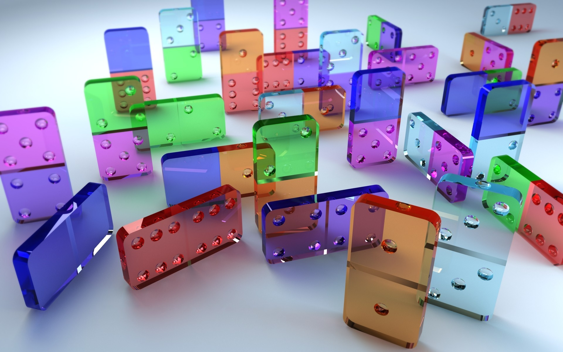 Dominoes Game Graphic 3d Wallpaper Colorful 001