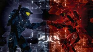 Red vs Blue Computer Screen Images
