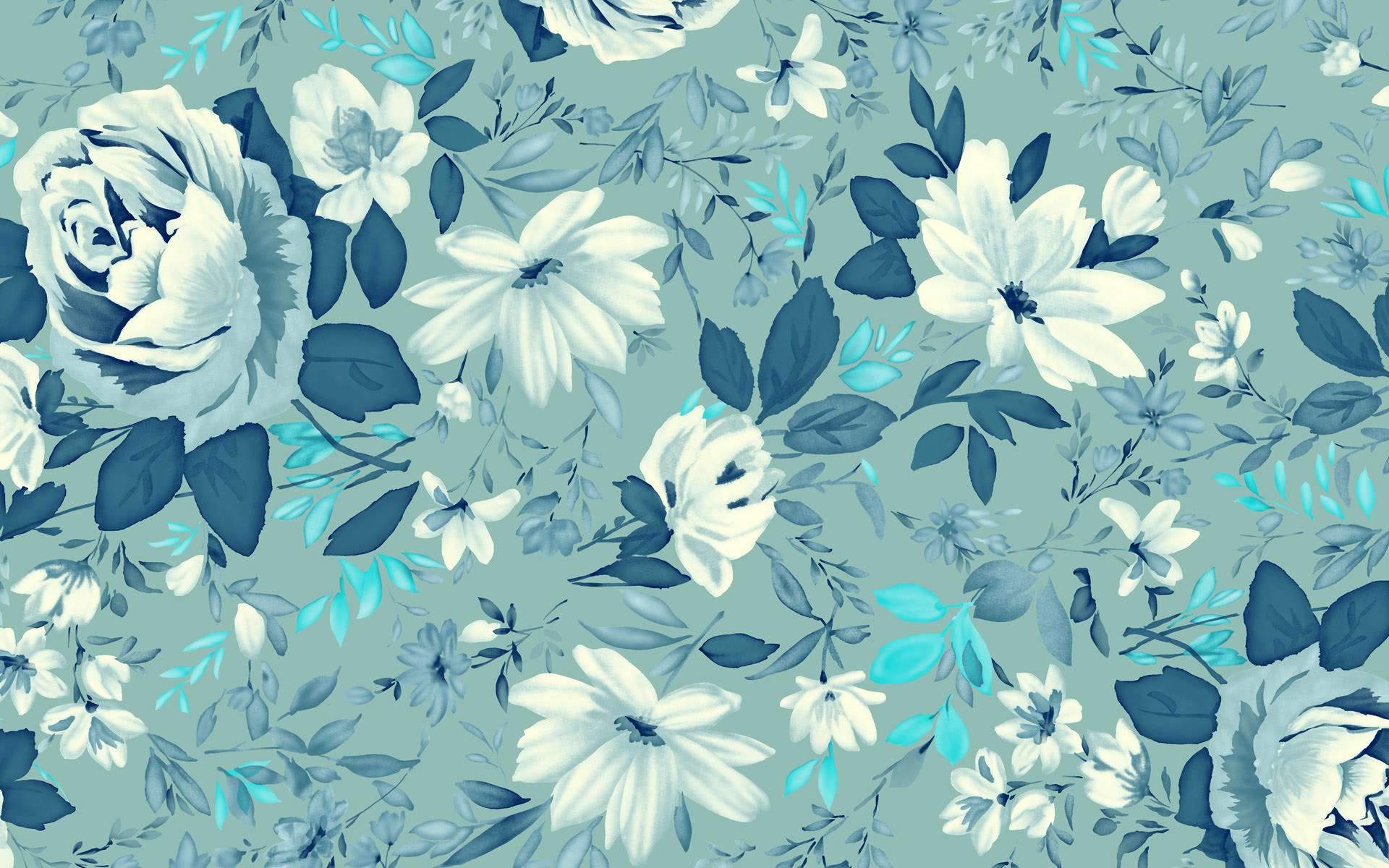 High Quality Wonderful Vintage Floral Wallpaper 1