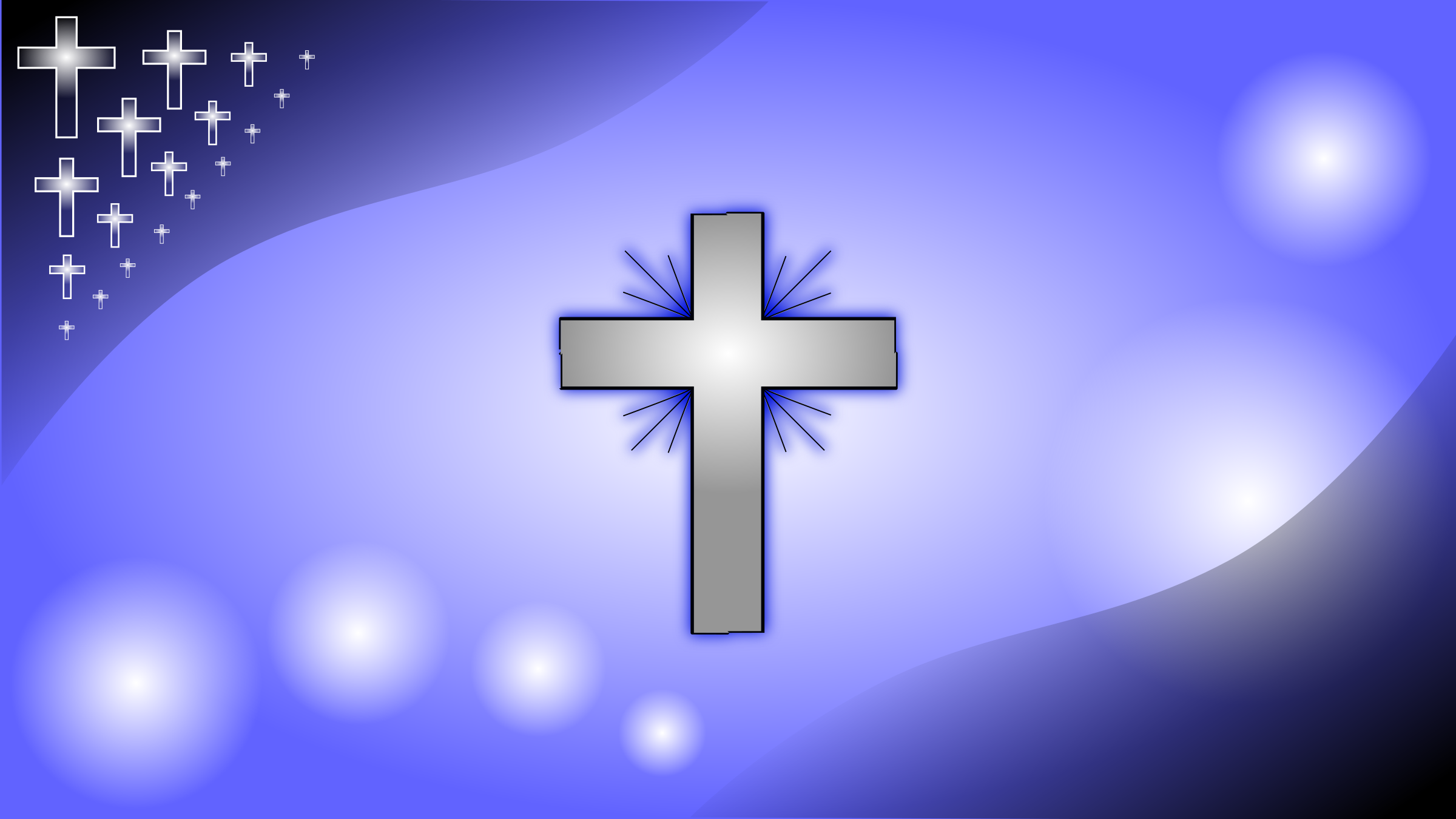 Iceblue-Glowing-Cross-Wallpaper-HD-background