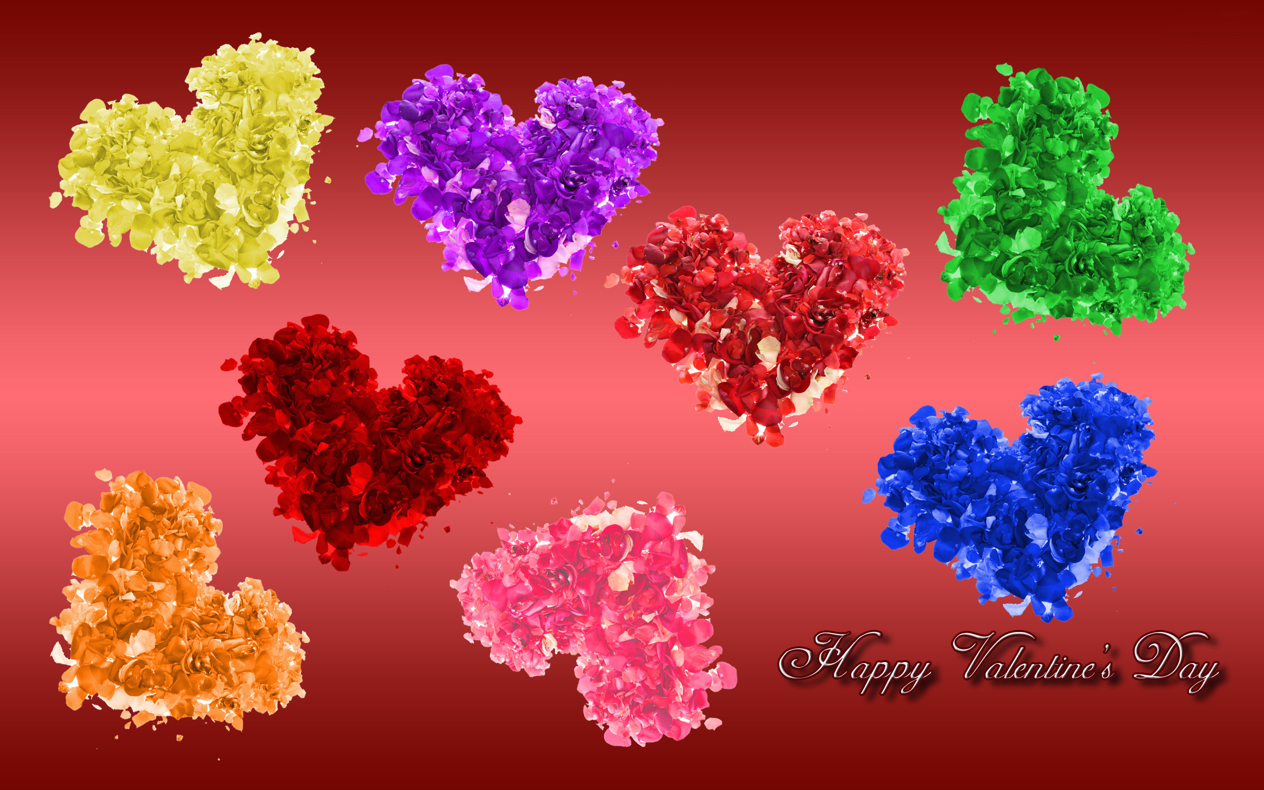 Valentines Day Colorful Wallpaper