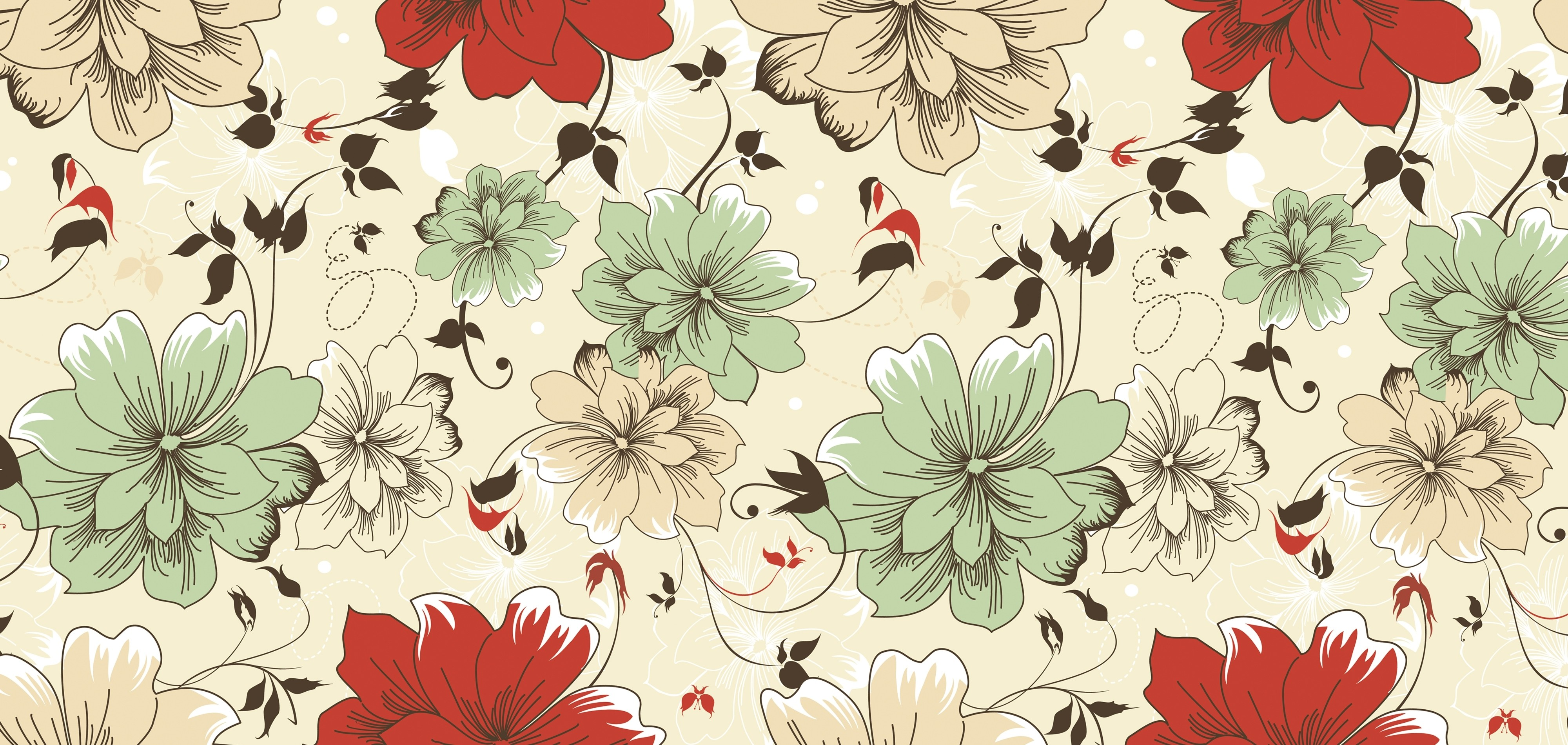 Vintage Floral Wallpaper HD For Desktop