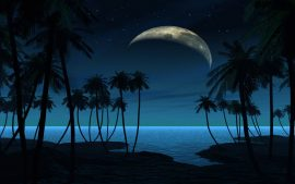 Beach At Night HD Backgrounds