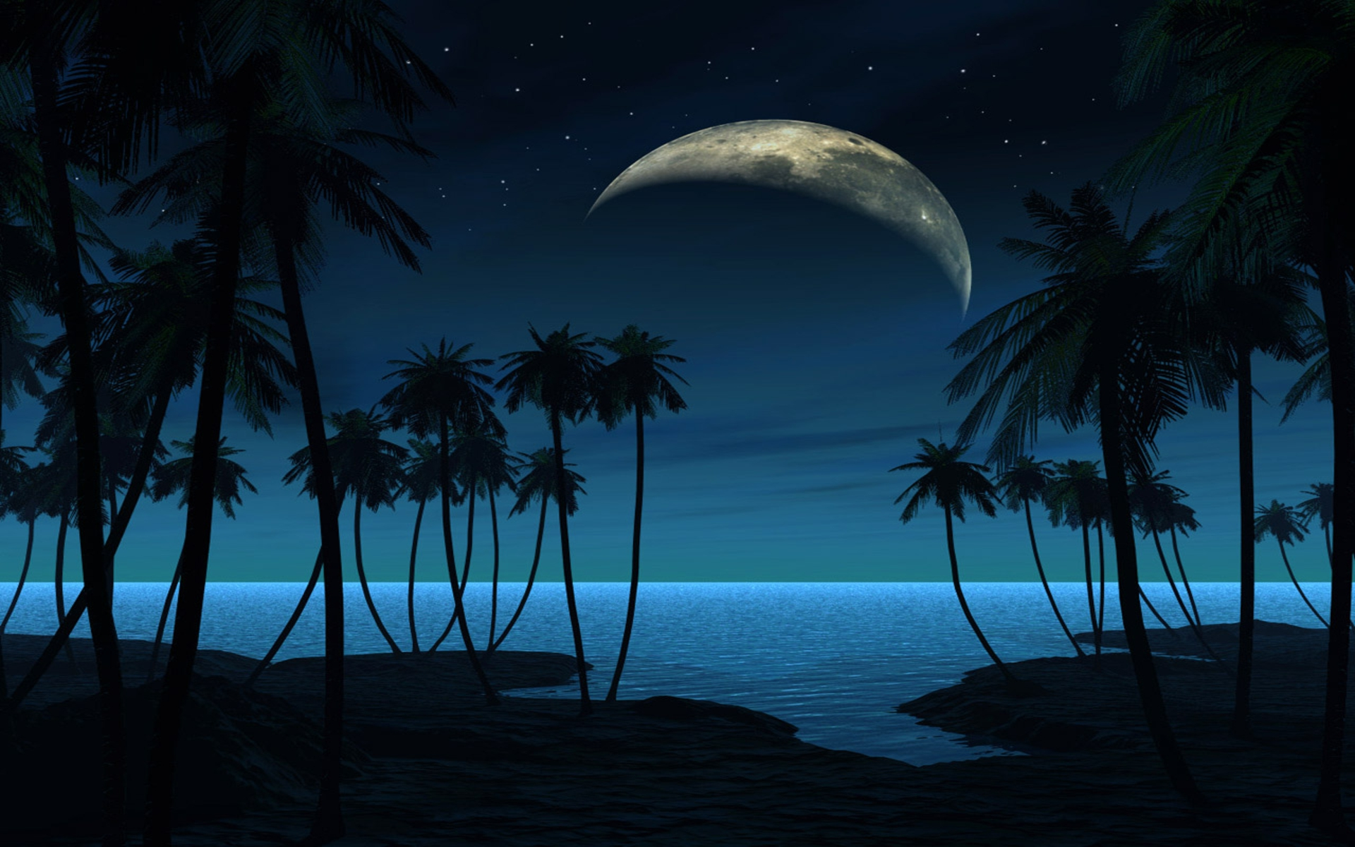 beach at night hd backgrounds | wallpaper.wiki