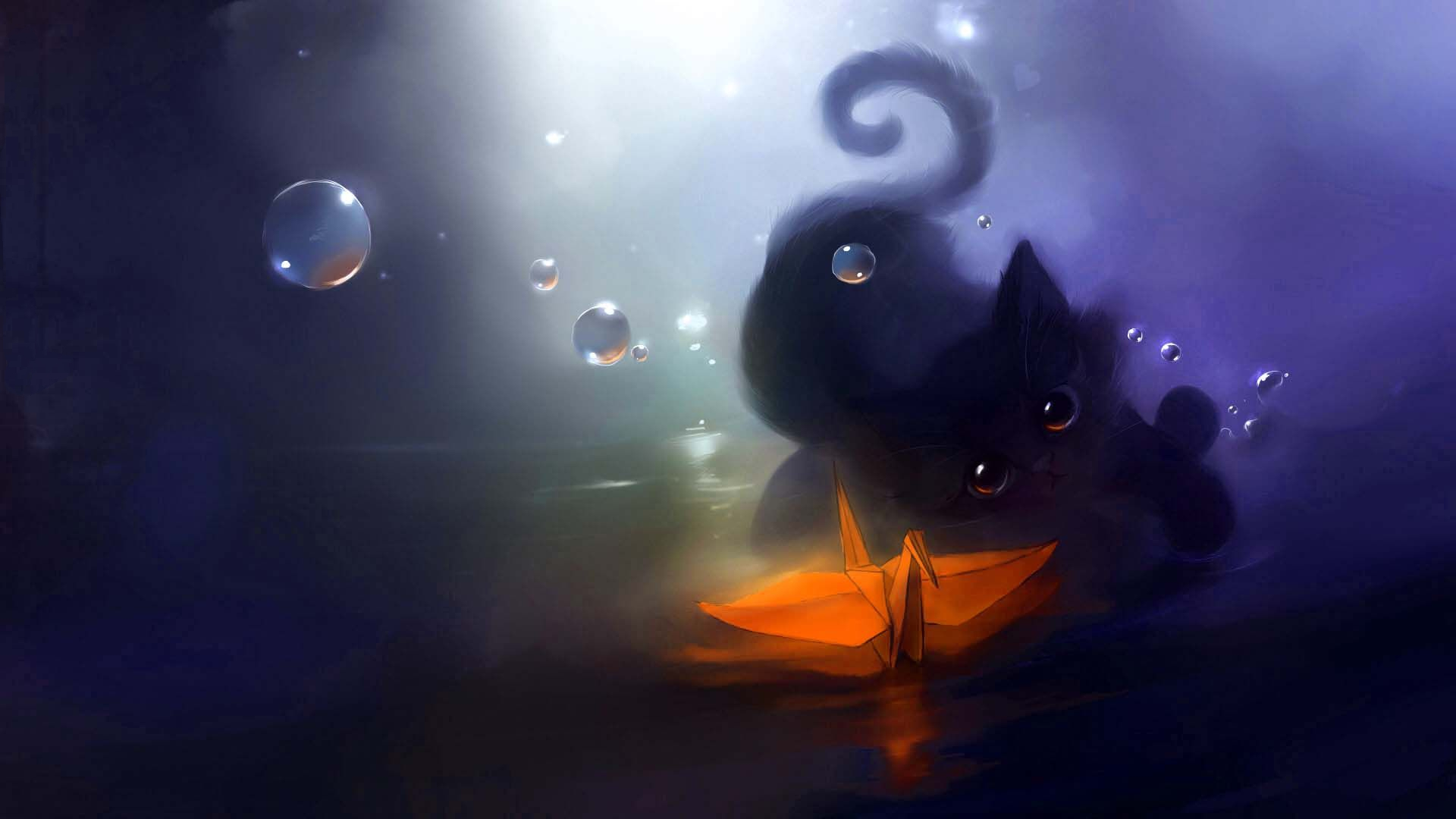 Anime cat desktop wallpaper - Anime cat wallpaper ...