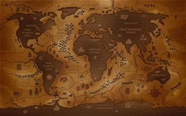Antique Map Wallpaper HD