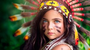 Girl Native American Backgrounds