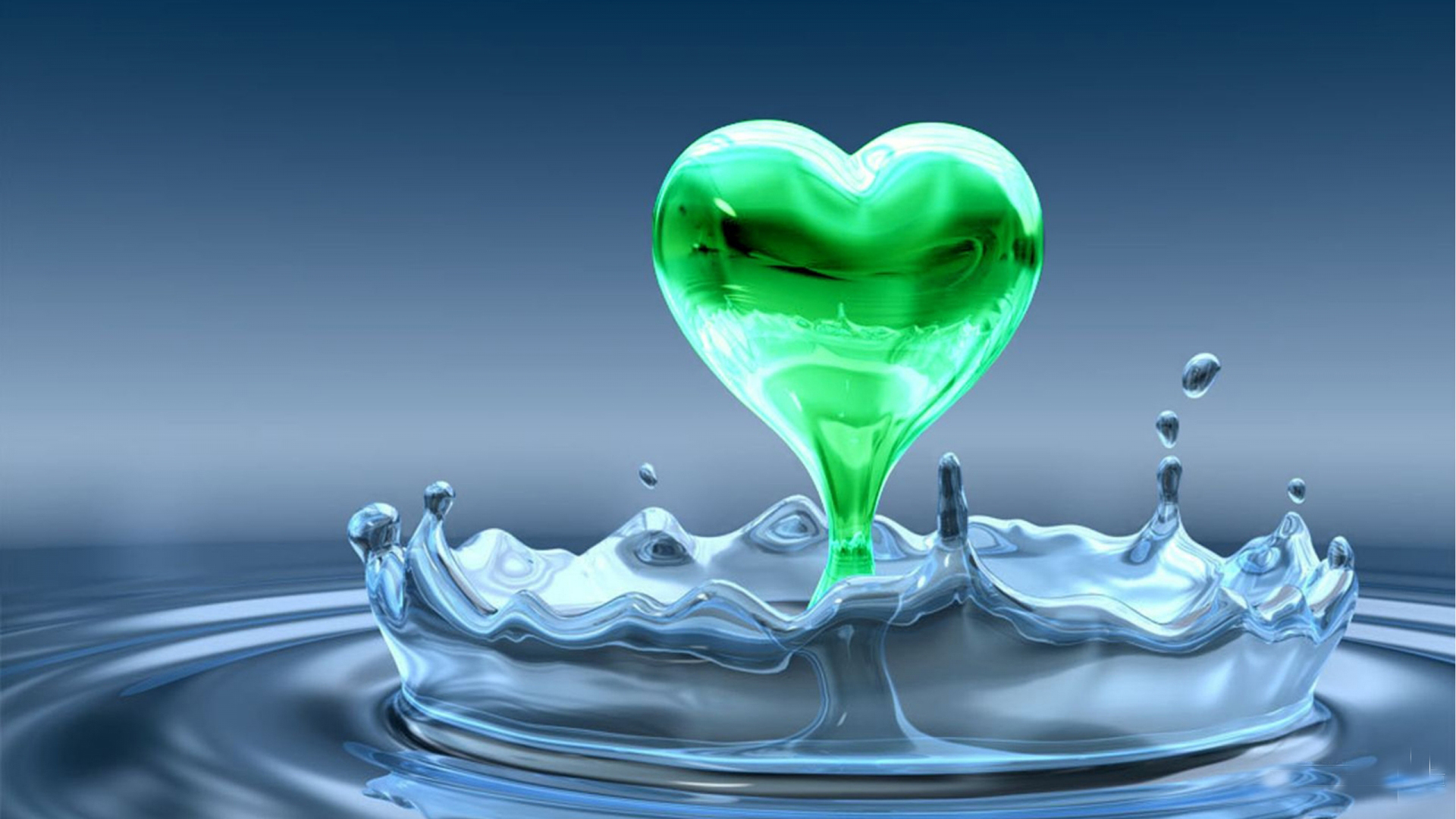 Wallpaper great green shade 3d heart hd wallpaper free download download voltagebd Images