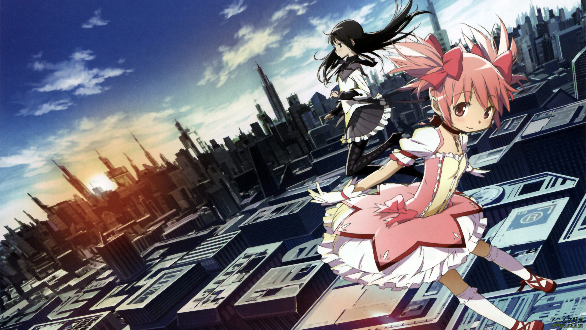 Hd Madoka Magica Backgrounds Wallpaper Wiki