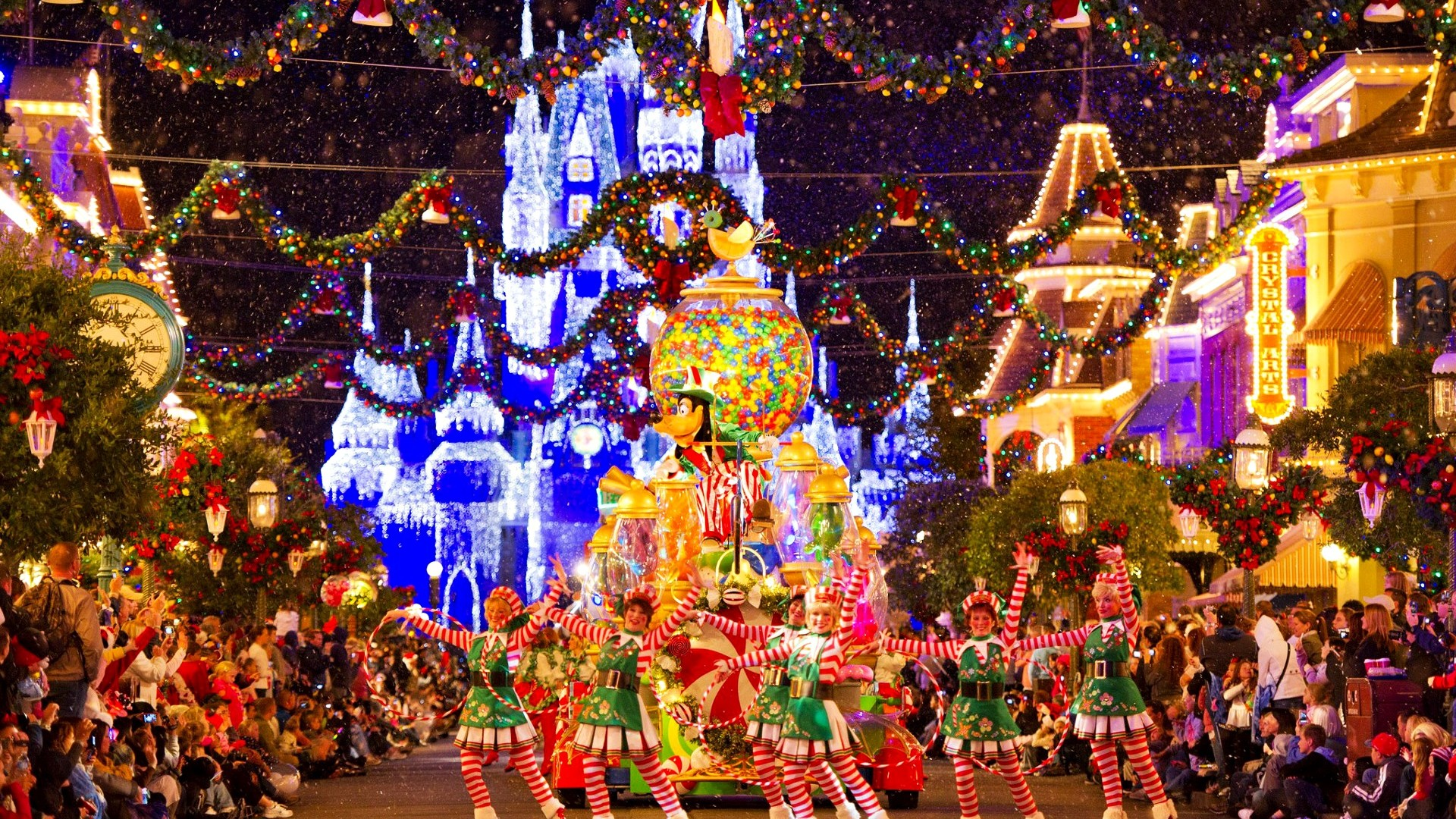 Christmas Parade At Disneyland
