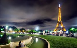 Eiffel Tower wallpapers at Night