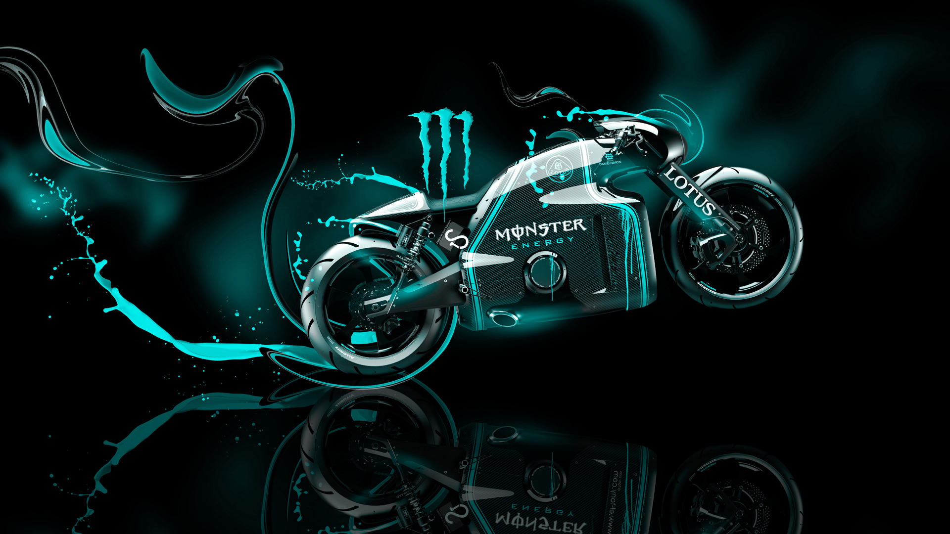 Exceptional Beau Monster Energy Lotus C 01 Fantasy Plastic Bike
