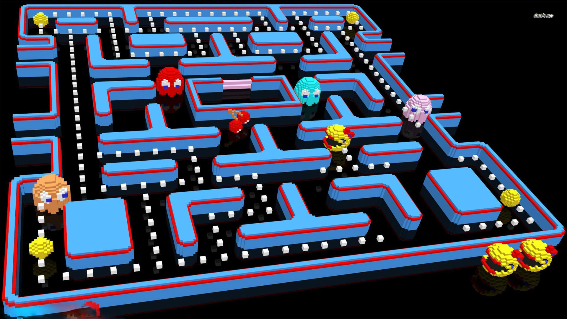 pacman-1920x1080-game-wallpaper | wallpaper.wiki