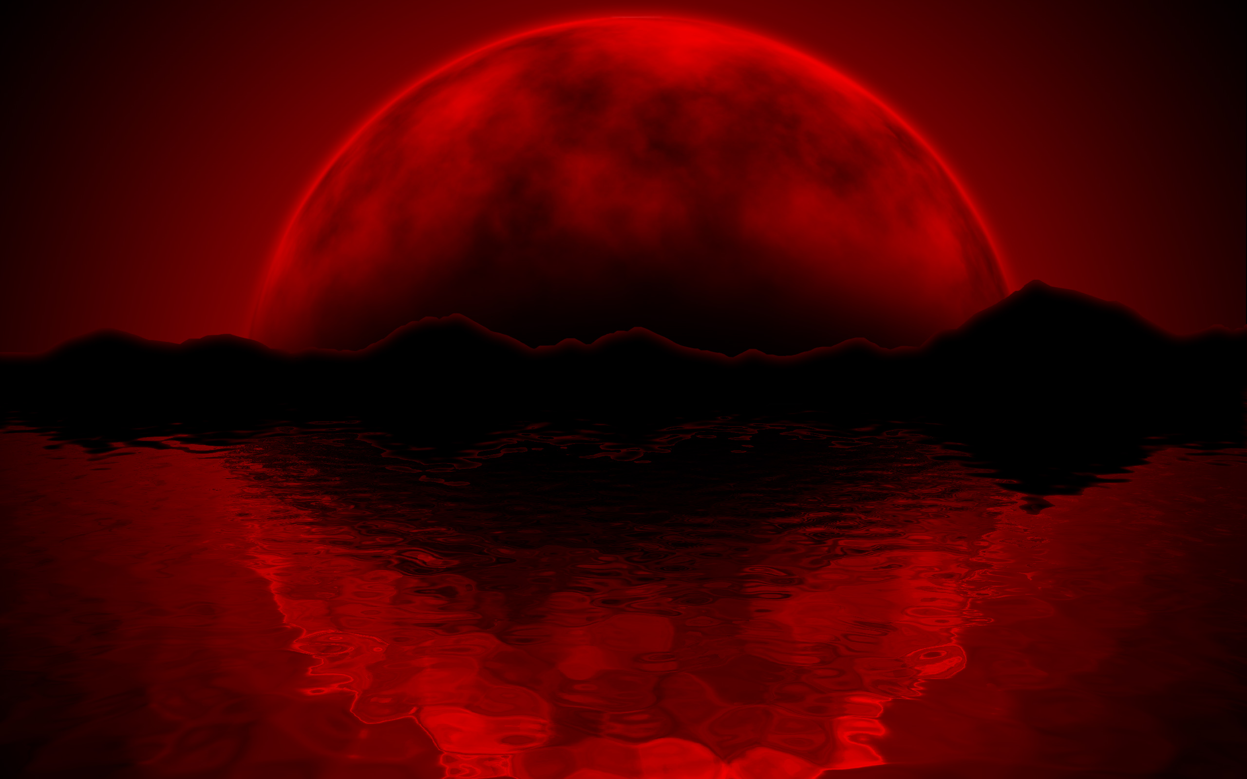 Red Moon Wallpaper Mobile