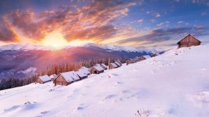 Layer of snow winter wallpaper