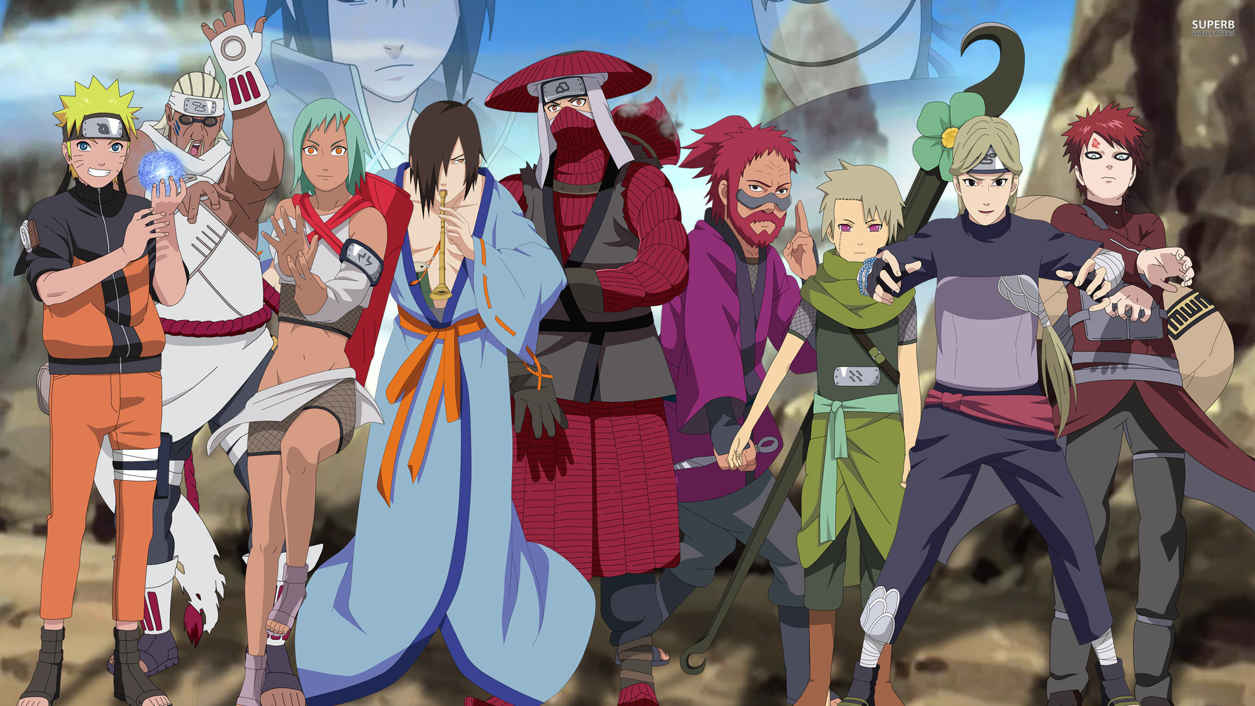 Naruto shippuden main characters wallpaper wallpaper download voltagebd Image collections